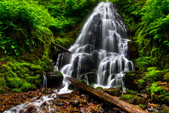 Fairy Falls in Columbia River Gorge