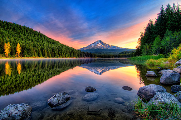 Mt. Hood from Trillum Lake Oregon, James K Watson Photography